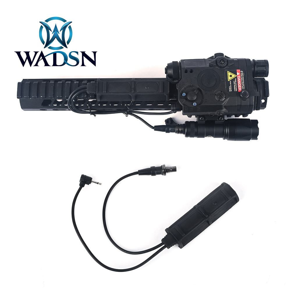 WADSN Tactiacl Remote Dual Pressure Switch for PEQ DBAL-D2/A2 Flashlight M300 M600 Hunting Weapon Light Switch Fit Picatinny