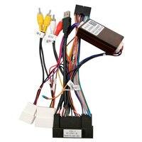 Wiązka zasilania Klyde z dekoder canbus Box dla KIA samochód hyundai obsługa radia oryginalny wzmacniacz i tylna kamera i kierownica w GPSy do pojazdów od Samochody i motocykle na