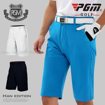 Spodnie do golfa PGM męskie spodenki ultra-cienkie płaskie spodenki męskie letnie cienkie suche dopasowanie oddychająca odzież sportowa tkanina golfowa XXS-XXXL tanie i dobre opinie COTTON spandex CN (pochodzenie) Pasuje prawda na wymiar weź swój normalny rozmiar CC0085 Stałe