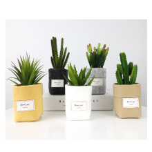 New Wihte Black Khaki Mini Succulents Planter Pot Letters Print  Felt Flower Pots Home Desktop Flowerpot for Flower/Green Plant