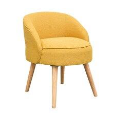 Массив дерева, ткань, короткий табурет, модный креативный табурет для отдыха, домашний тканевый стул для макияжа, Диванный табурет