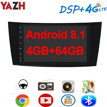 """YAZH Android 8.1 Car Radio Multimedia For Benz E-Class W211/ G-Class W463/ CLS W219/ CLK W209 01-10 With 8.0"""" IPS GPS Display"""