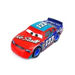 Samochody Disney Pixar 3 nowy cyfrowy samochód nr 123 Metal Diecast aluminiowy Model samochodu zabawki Hudson Hornet Vingo Mater zabawki dla dzieci
