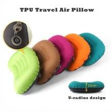 Надувная наружная подушка для кемпинга сверхлегкие подушки для путешествий с карманом портативная Подушка с инфляцией TPU дорожная воздушная подушка