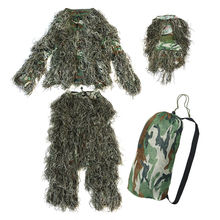 5 pieces New Ghillie Suit Camo Woodland Camouflage Forest Hunting 3D maharishi reversible camo crew british bonsai forest night camouflage