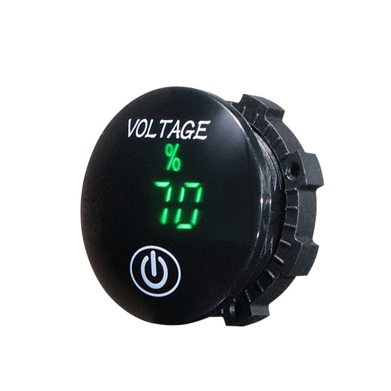 Balight DC 5 V-48 V LED Auto Motorrad Panel Digital Spannung Meter Batterie Kapazität Display Voltmeter mit Touch ON OFF Schalter