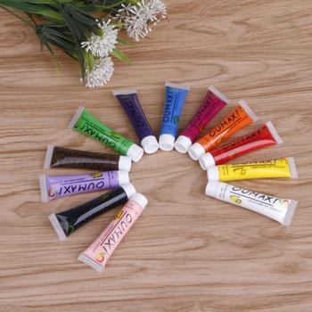12 Colors 3D 12ml Nail Art Paint Tube Draw Painting Acrylic Nail Art Tip UV Gel X7JA fashionable oumaxi 12 colors acrylic nail paints for 3d nail art drawings and designs