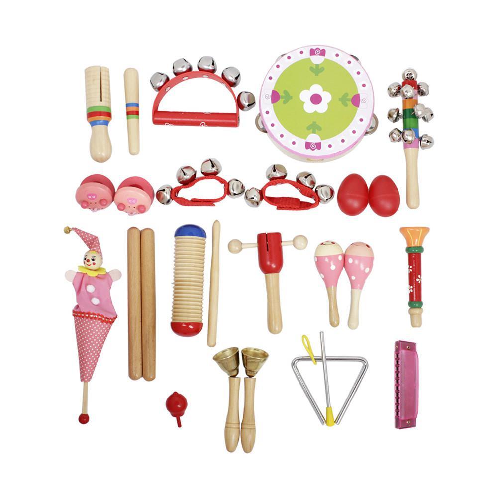 IRIN 22-Piece Set Musical Instruments Girls Early Education Enlightenment Instrument for Children Hands Sensing Practice