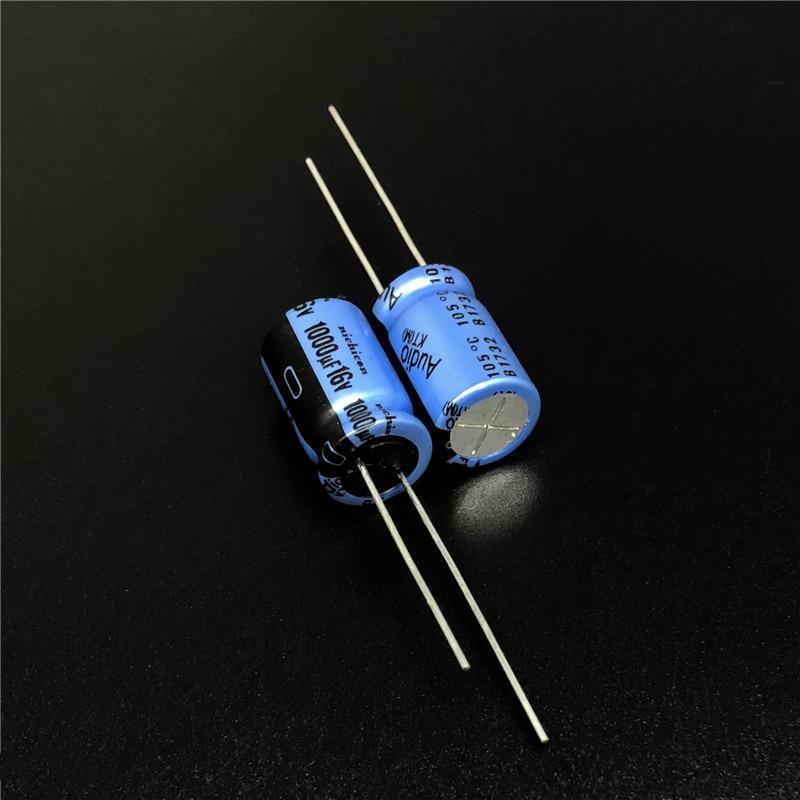 5pcs 1000uF 16V NICHICON KT Series 10x16mm 16V1000uF Audio Aluminum Electrolytic Capacitor