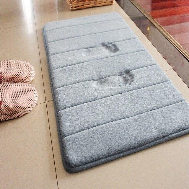 Tapis de bain tapis salle de bain tapis dabsorption deau Shaggy mousse à mémoire de forme tapis de salle de bain cuisine sol salle de bain tapis et tapis ensemble tapis de douche