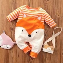 NEWLUK Baby Romper,Toddler Newborn Kids Girls Boys Cartoon Fox Hooded Print Romper Jumpsuit Playsuit Clothes Outfits