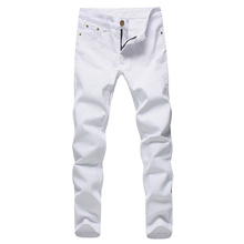 2019 Men Stretch Jeans Fashion white Denim Trousers For Male Spring And Autumn Retro Pants Casual Men's Jeans size 27-36