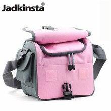 Câmera saco de vídeo azul rosa dslr à prova dslr água bolsa de ombro caso para canon d7100 d7000 d5200 d5100 d3100 d3000 d800 d600 d300