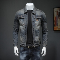 2020 Denim Jacket Men Retro Motorcyle Coat Streetwear Pilot Bomber Zipper Jackets Cowboy Men Blue Jean Jacket