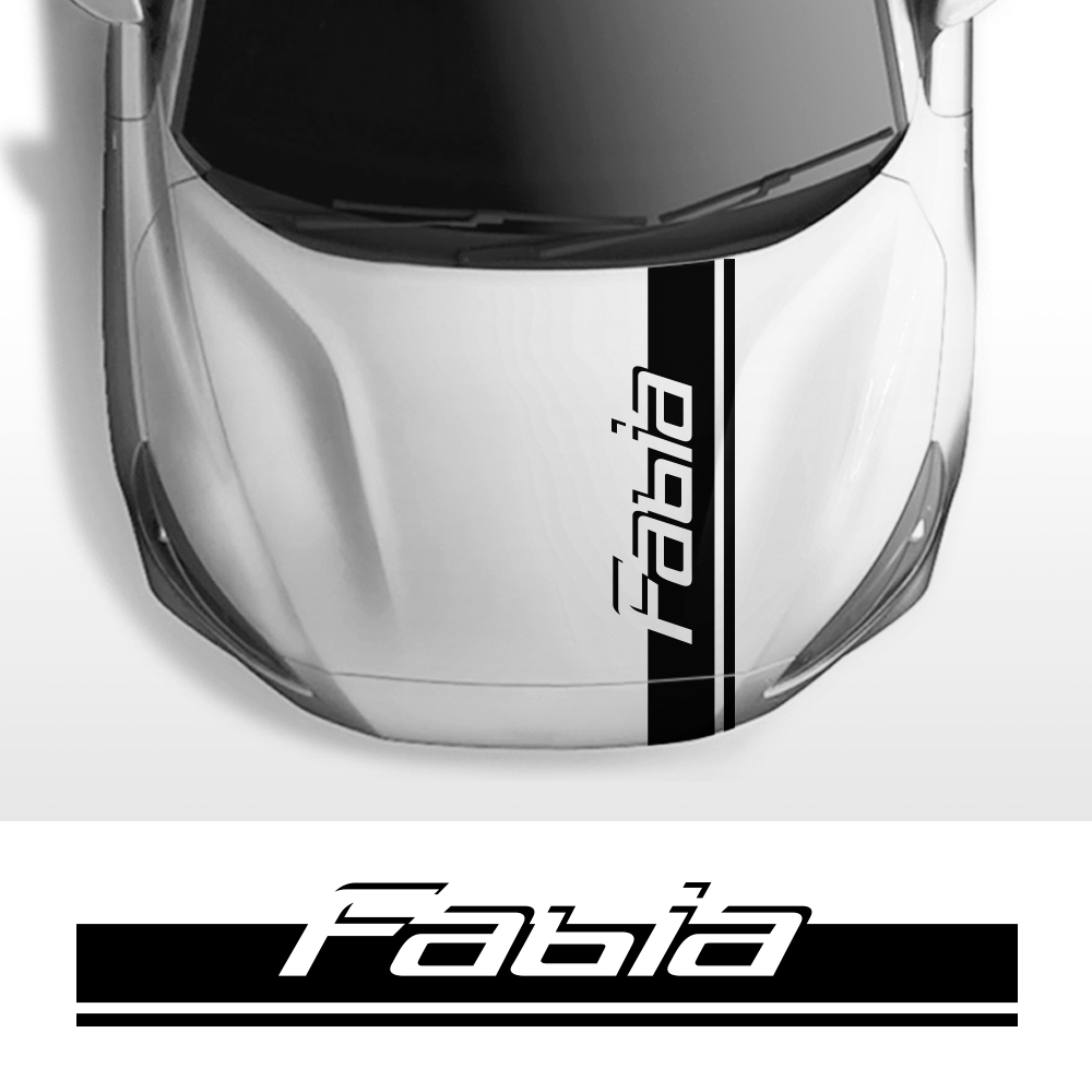 For Skoda Fabia 1 2 3 MK1 MK3 Car Engine Bonnet Cover Trim Stripes Stickers Vinyl Decals Auto Hood Body Decoration Accessories