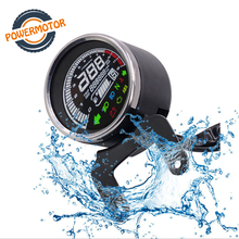 Motorcycle Digital Instruments Multi-functional Gauges Odometer Tachometer Fuel Level Speed Meter Indicator Led Round 12000rpm
