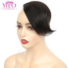 YELO Brazilian Straight Human Hair Clip Bangs Remy  Hair Extension Bangs 20 grams Natural Black 100% Natural Fringe