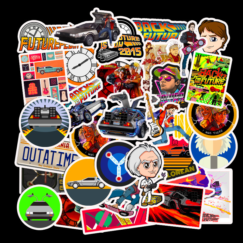50PCS Classic Movie Back To The Future Stickers Motorcycle Sticker For Phone Laptop Funny Graffiti Stickers Decals Pegatinas image