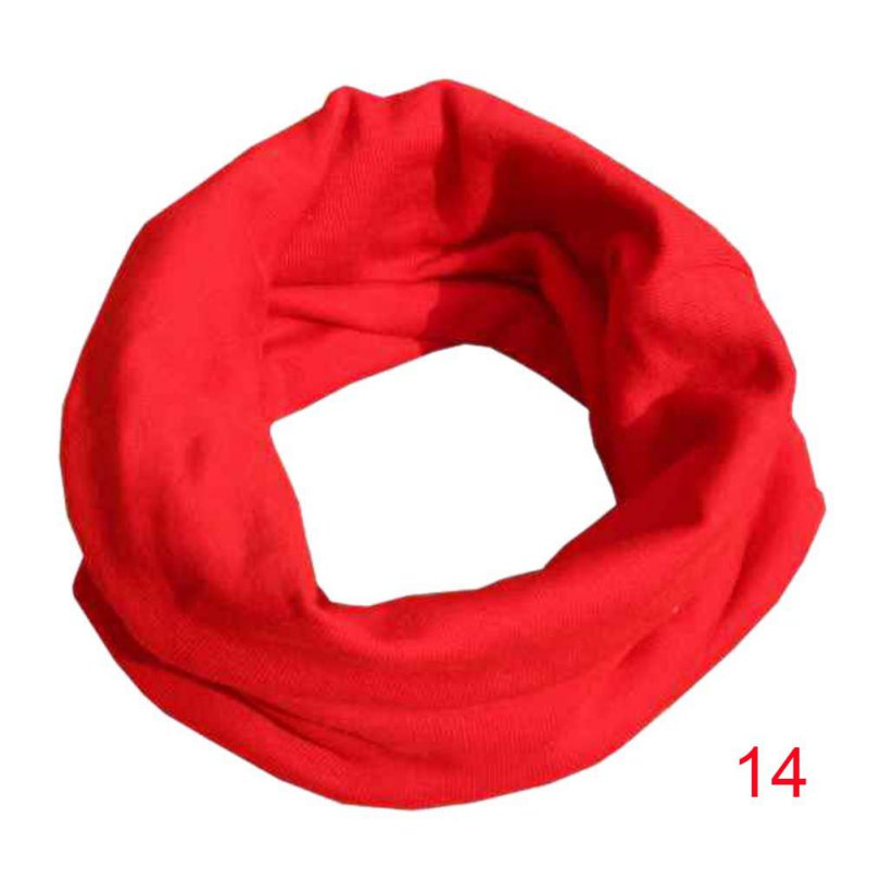 Female Fashion Scarf Kids Child 100% Cotton Scarf 18 Colors Boys Girls O Ring Scarf Children Neck Scarves