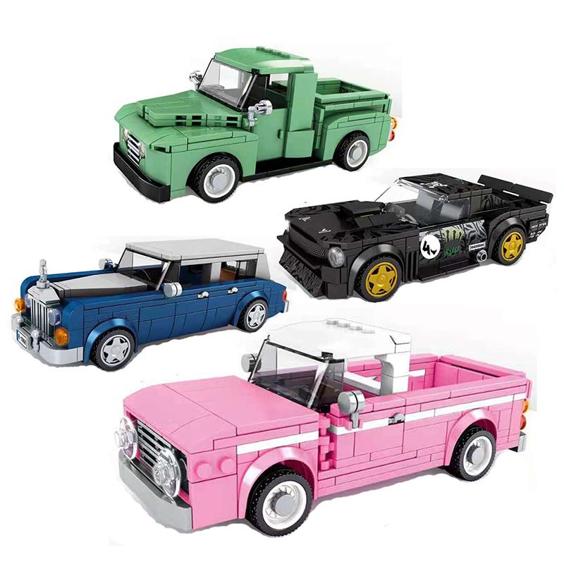 Speed Champions Super Race Car F1 Great Vehicle Racing Model Building Blocks Bricks Sports Kits Sets City Technique kids toys