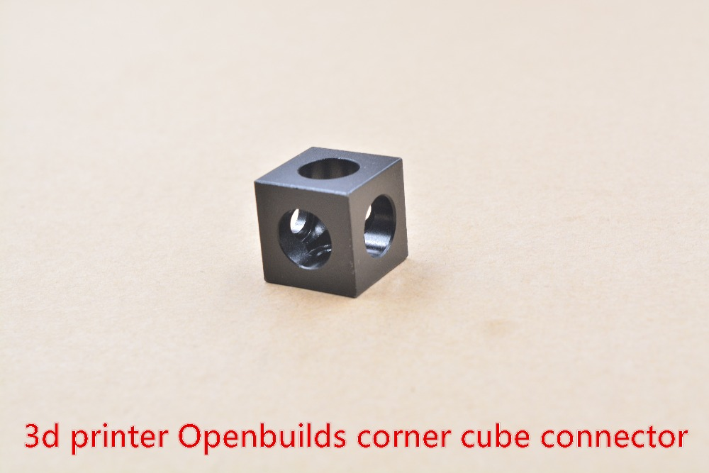 3D Printer Openbuilds V-slot Three Corner Cube Corner Prism Connector Adjustable Wheel Bracket