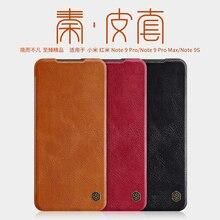 Xiaomi redmi note 9s ケースのため nillkin 秦シリーズフリップレザーカバーケース財布ポケットケース xiaomi redmi 注用 9s 注 9 プロ