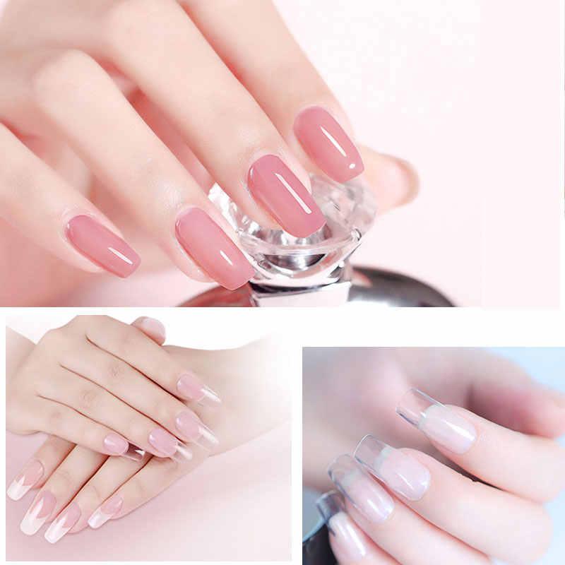 Polygel SET uñas acrílico blanco lechoso Color base para uñas UV LED Builder Gel consejos mejora solución deslizante extensión rápida Gellak