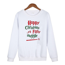 Merry Christmas Women Hoodies Plus Size Woman Clothes Streetwear Oversized Casual Print Pullovers Christmas 2019 plus size merry christmas skew collar sweatshirt
