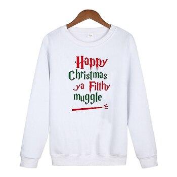 Merry Christmas Women Hoodies Plus Size Woman Clothes Streetwear Oversized Casual Print Pullovers Christmas 2019 merry christmas reindeer olive branch print round beach throw