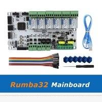 Placa de impressora 3d 32bit rumba32 rumba 32 placa-mãe + 6 pces módulo driver v1.1 tmc2130 para acessórios de impressora 3d
