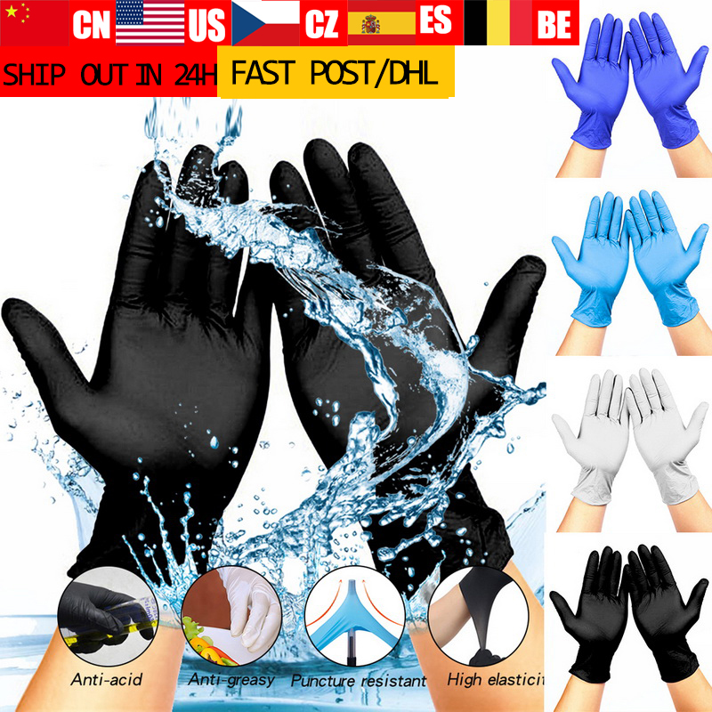 New 100pcs Disposable Gloves Latex Dishwashing Work Garden Gloves Rubber Gloves Universal For Left Right Hand