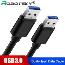 USB 3.0 Extension Cable DualประเภทAชายข้อมูลSyncสายเคเบิล5Gbps Super Speedสำหรับหม้อน้ำUSB3.0ข้อมูลสาย