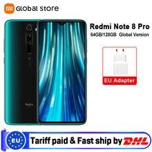 Глобальная версия смартфона Xiaomi Redmi Note 8 Pro 6 ГБ 64 Гб/6 ГБ 128 ГБ 64-мегапиксельная четырехъядерная камера Восьмиядерный Helio G90T 4500 мАч NFC