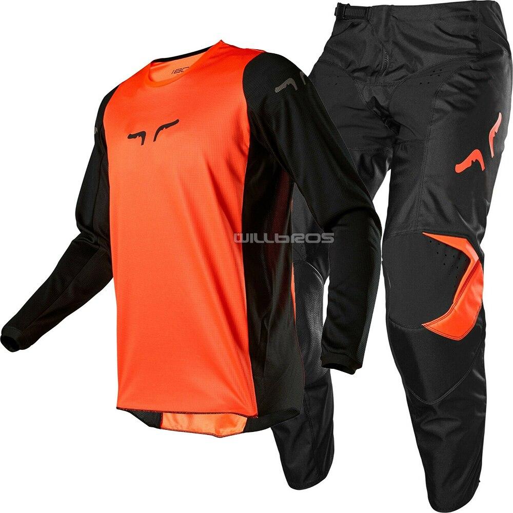 L//32 BLK Fox Racing 180 Prix Jersey//Pants Set