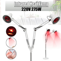 150W Infrared Heating Therapy Lamp Adjustable Full Body Knee Back Pain Relief Physiotherapy Lamp + Two Infrared Light Bulb 220V