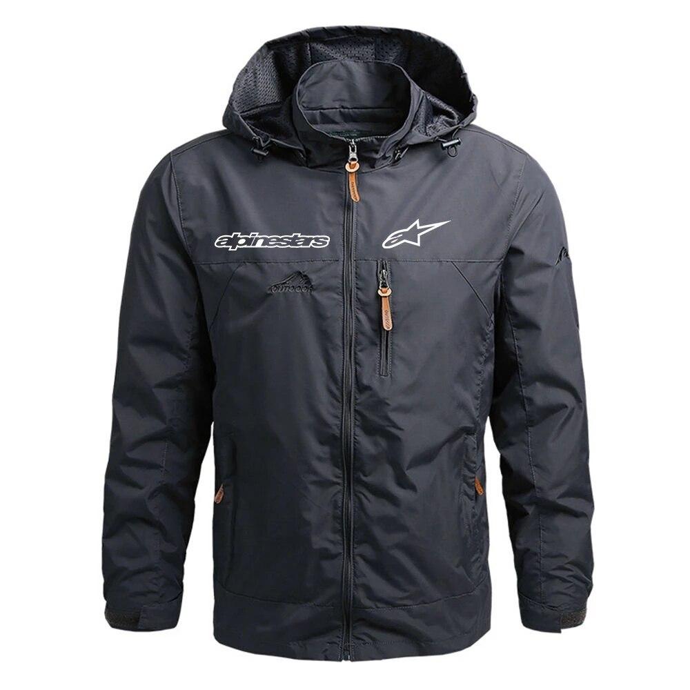 Men's Waterproof Jacket Hooded Coat Men's Outdoor Rock Climbing Windbreaker Windproof Spring and Autumn Jacket Fashion Clothing