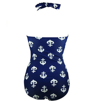 2020 Super Plus Size Sea anchor printing one piece swimsuit for woman 2020 plus size swimsuit beach wear 6
