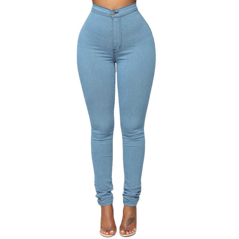 Ropa De Calle De Vicaob Jeans Pantalones Ajustados De Cintura Alta Para Mujer Color Caramelo Pantalones Elasticos Para Mujeres Pantalones Largos Solidos De Mezclilla Pantalones Vaqueros Aliexpress