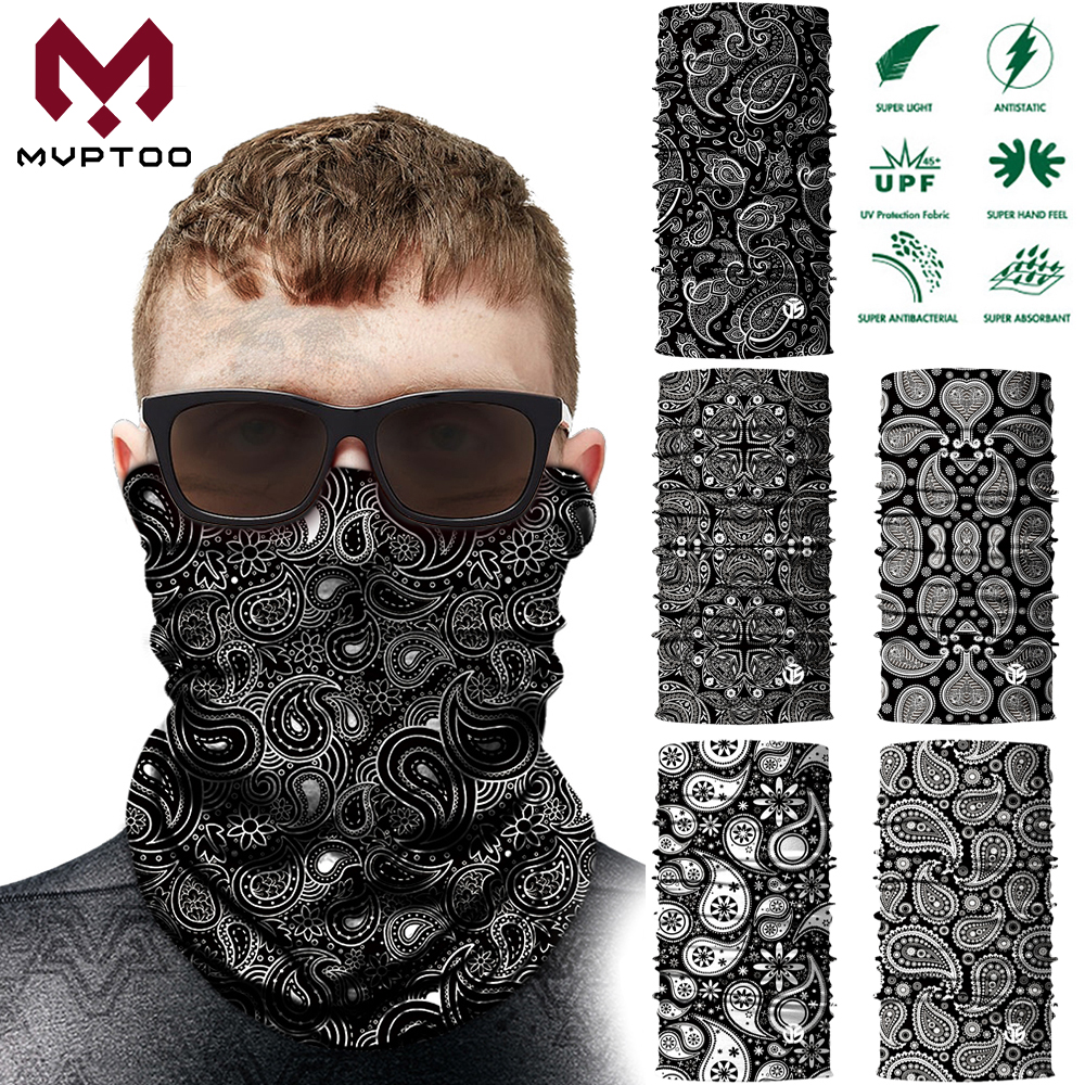 3D Magic Tube Scarf Head Shield Motorcycle Neck Gaiter Face Mask Motorbike Moto Cycling Dustproof Ear Cover Bandanas Men Girls image