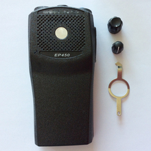 5 ชุด X วิทยุปลอกของ EP450 ด้านหน้าปลอกป้ายปุ่ม PTT และลูกบิด
