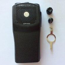 Bộ 5 X Radio Vỏ Bọc Bằng EP450 Trước Vỏ Lables PTT Nút Viền Và Nút Vặn