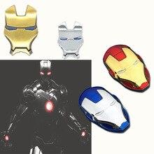 3D Auto Chrome Metal Iron Man znaczek na samochód naklejki Logo dekoracje Avengers na naklejki stylizacyjne do samochodów akcesoria zewnętrzne
