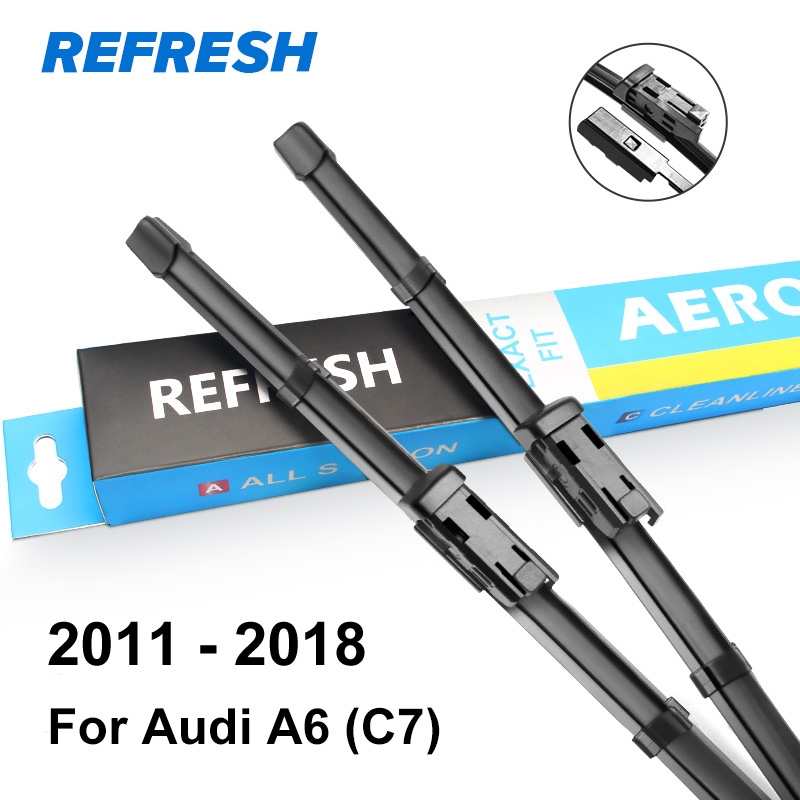 Обновляемые стеклоочистители для Audi A6 C5/C6/C7 подходящий крючок/слайдер/коготь/кнопочные ручки модель года от 1997 до - Цвет: 2011 - 2018 ( C7 )