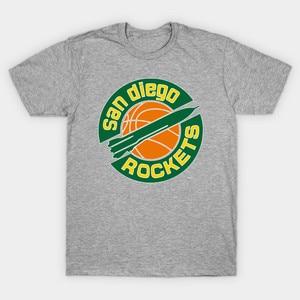 Men t-shirt DEFUNCT SAN DIEGO ROCKETS tshirt Women t shirt(China)
