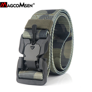 Image 2 - MAGCOMSEN Nylon Tactical Belts Men Multicam Military Heavy Duty Quick Release Belts Waistbands Army Airsoft Gears Paintball