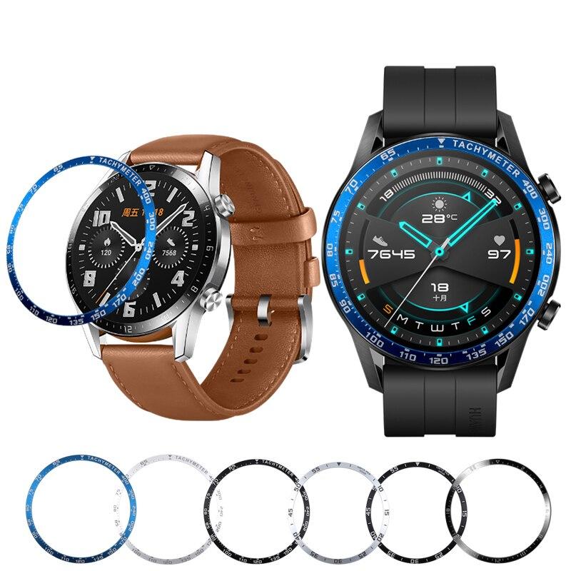 Anillo de bisel de Metal para Huawei Watch Gt 2, 46mm, 42mm, carcasa con bisel, cubierta de marco de estilismo, protección de parachoques, accesorios de reloj