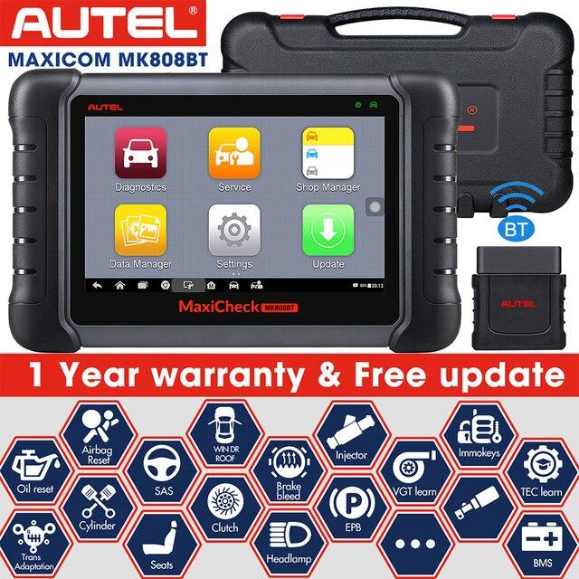 Autel ماسح تشخيصي للسيارة MaxiCOM MK808BT ، OBD2 ، بلوتوث ، 2021