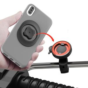 Image 4 - Universal mount Handlebar Rear view Mirror Mount Clip Bracket for Mobile Cell Phone,Motorcycle Bicycle Electric vehicles holder