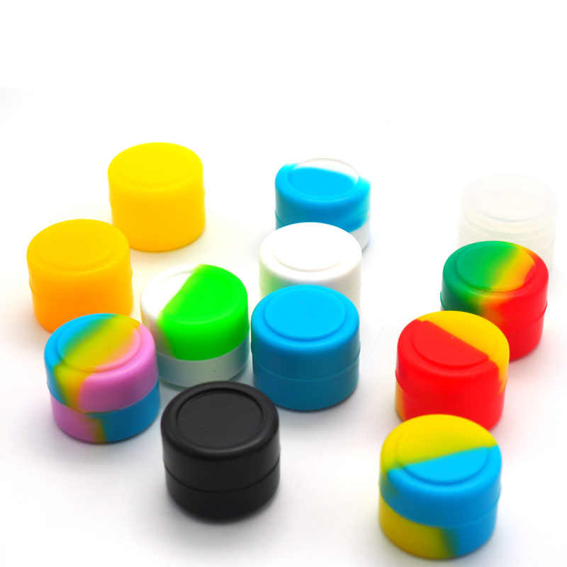 2ml 3ml 5ml 7ml 22ml Camouflage Silikon Container Runde Silikon Glas Für Öl Wachs Tupfen zigarette Creme Einfach Zu Halten Tragen