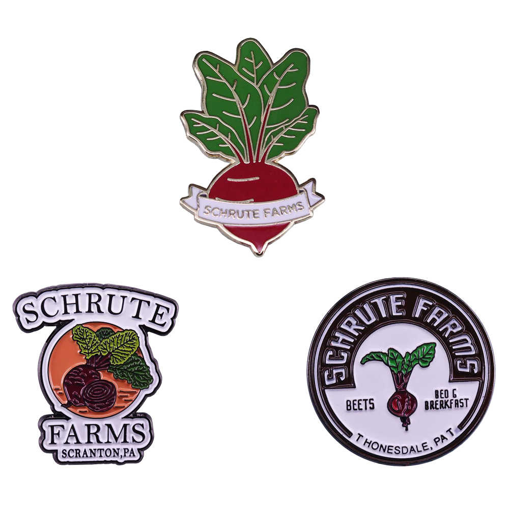 Schrute Farms Beets Pin Dwight Het Kantoor Fan Gift Grote Tv Show Fans Toevoeging